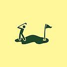Golf SWING man swinging a golf club by jazzydevil