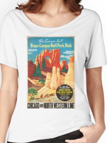 Vintage poster - Bryce Canyon Women's Relaxed Fit T-Shirt