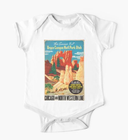 Vintage poster - Bryce Canyon One Piece - Short Sleeve