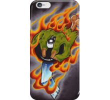 Flaming Zombie Shifter iPhone Case/Skin