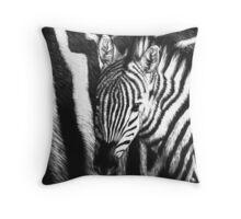 Zebra Foal Throw Pillow