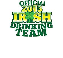 Official 2013 IRISH Shirt with beer pint and a shamrock Photographic Print