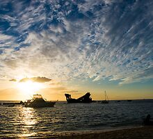Tangalooma Wrecks Moreton Island Sunset by pgalligan