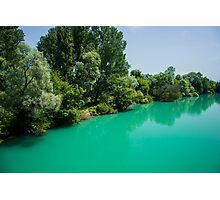 Aquamarine River - Nature Photography Photographic Print