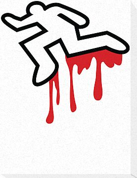 """MURDER OUTLINE Coroner outline dead person """" Canvas Prints by ..."""