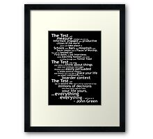 Crash Course The Test Quote Framed Print