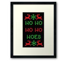 Ho Ho Ho Hoes Framed Print