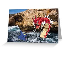 Pokemon in real life Greeting Card