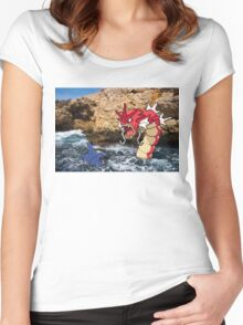 Pokemon in real life Women's Fitted Scoop T-Shirt
