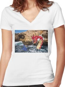 Pokemon in real life Women's Fitted V-Neck T-Shirt