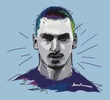 Ibrahimovic, PSG, ibra kadabra, art, vector Kids Tee