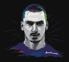 Ibrahimovic, PSG, ibra kadabra, art, vector One Piece - Long Sleeve