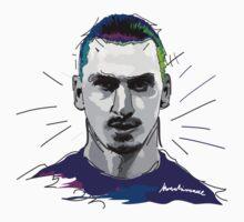 Ibrahimovic, PSG, ibra kadabra, art, vector Baby Tee