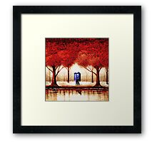 Blue Phone Box Cloud Framed Print