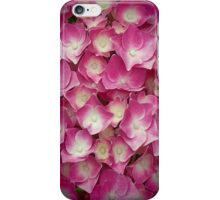 Pink And Yellow Hydrangea Flowers iPhone Case/Skin