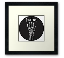 The Garden - haha Framed Print