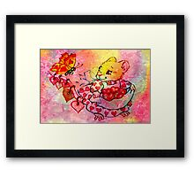 COLLECTING VALENTINES Framed Print