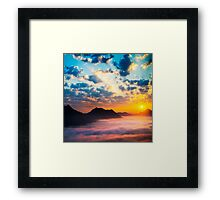 Sea of clouds on sunrise Framed Print