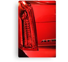 Cadillac ATS in Red Canvas Print