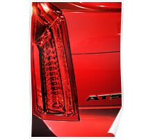 Cadillac ATS in Red Poster