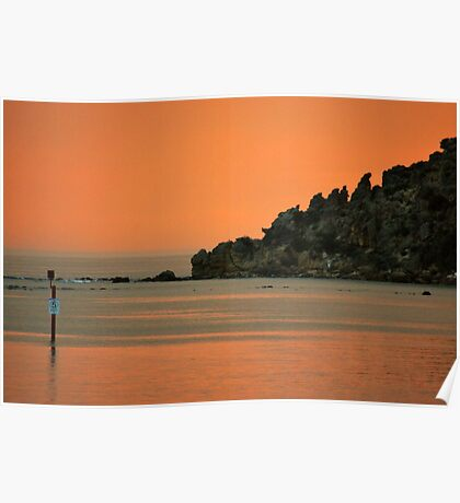Inlet Sunset Poster