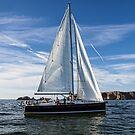 A sail boat off Alderney  by NeilAlderney
