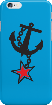 Navy ANCHOR in black with a STAR by jazzydevil
