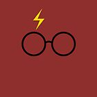 Harry Potter - Minimalist (Gryffindor Red) by runswithwolves