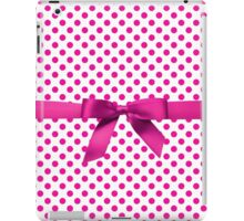 Pink Polkadot Ribbon iPad Case/Skin