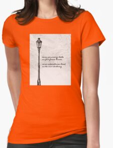 Narnia Lamp Post Womens Fitted T-Shirt