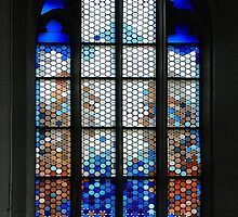 Church-window in Rothenburg ob der Tauber by Arie Koene