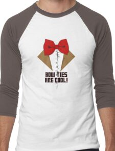 Bow Ties are cool! Men's Baseball ¾ T-Shirt