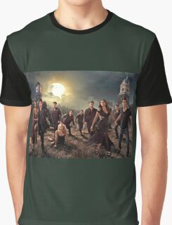 The vampire diaries-cast Graphic T-Shirt