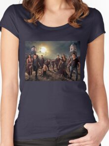 The vampire diaries-cast Women's Fitted Scoop T-Shirt