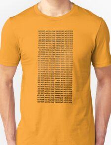 The Shining - All Work And No Play (Redrum) Unisex T-Shirt