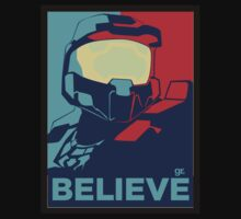Halo , believe , game ,fun , style , hype , good ,chill , obey  Kids Tee