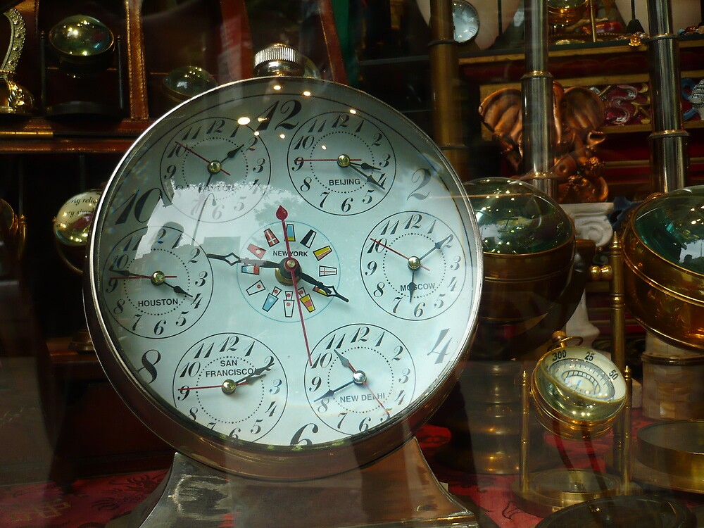 Steampunk World Clock by Caitlan