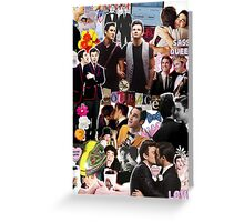 Klaine Collage Greeting Card