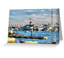 Balboa Pavilion Newport Beach, California Greeting Card