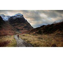 Walker in Glen Coe Photographic Print