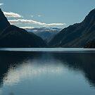 Sandvinsvatnet fjord by Alex Chartonas