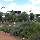 Broken Hill hospital the front by Heather Dart