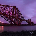 Sunset of the Forth Rail Bridge by Paul  Gibb