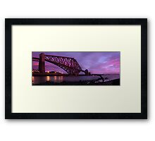 Sunset of the Forth Rail Bridge Framed Print
