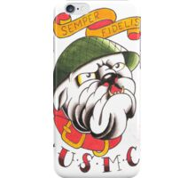 Semper Fi Bulldog iPhone Case/Skin