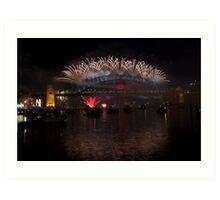 NYE 2013 FIREWORKS | SYDNEY HARBOUR BRIDGE Art Print