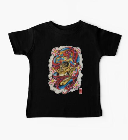 Skull and Snakes Baby Tee