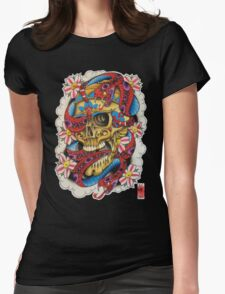 Skull and Snakes Womens Fitted T-Shirt