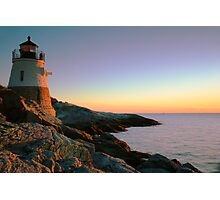Evening at Castle Hill Lighthouse Photographic Print