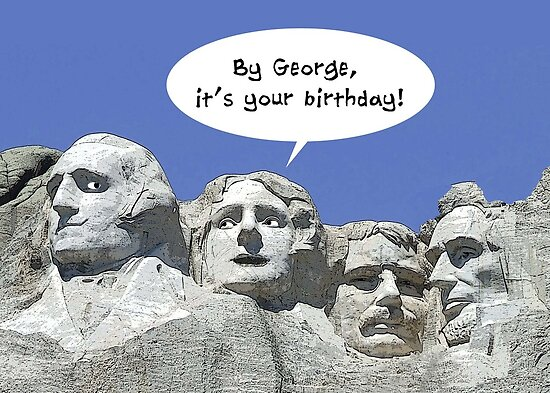 By George It's Your Birthday, President's Day Card by NestToNest